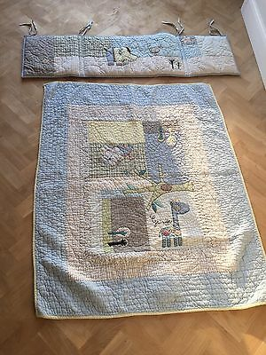 Mama And Papas Cot Bumper And Quilt