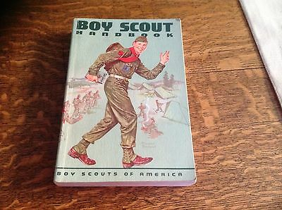 1959 BOYS SCOUT handbook sixth addition Norman Rockwell cover
