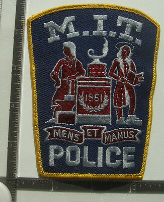 MIT POLICE PATCH MA MASSACHUSETTS Institute Technology COLLEGE OBSOLETE Navy