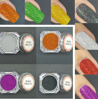 8boxes Holographic Laser Effect Powder Manicure Nail Art Glitter Powder 8Colors