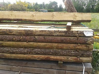 Wooden Sleepers -- 200mm x 100mm x 2.4m long Timber Rustic Raised bed veg plot