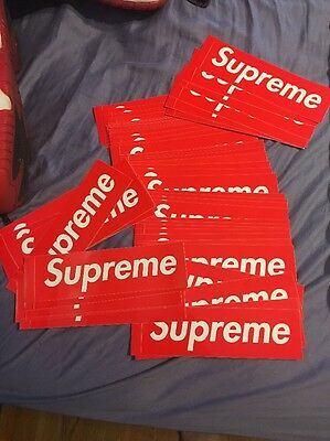 Supreme Box Logo Stickers 100% Authentic Free Shipping Trusted Seller!!!