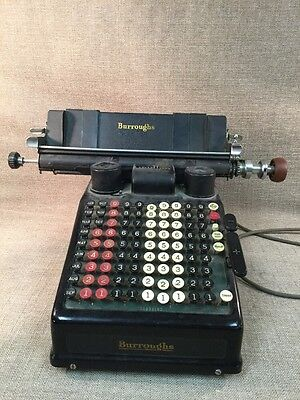 ANTIQUE Vintage  Burroughs Adding Machine Type 3 - Not Working
