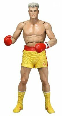 Rocky IV Ivan Drago Yellow Trunks Dolph Lundgren Action Figur 40th NECA