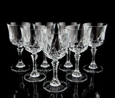 """Cristal D'Arques Auteuil Crystal Wine Glasses, Set of (7), France Crystal 6"""""""