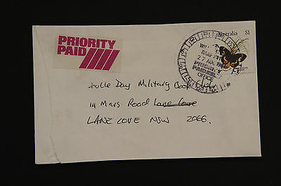 1984 WILLIAMTOWN RAAF NSW priority paid commercial cover butterfly military