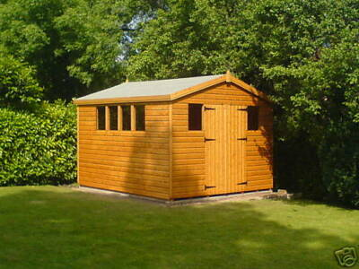 """12X10 APEX WOODEN GARDEN SHED ,13MM T/G ,3x2 CLS,1"""" THICK FLOORING,13MM ROOF"""