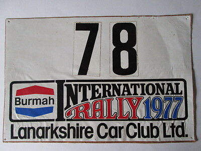 Burmah international rally decal 1977 .Motor club. Rally. motorsport. rallye