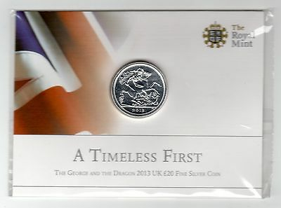 The George And Dragon 2013 £20.00 Silver Coin.