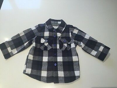 Pumpkin Patch Baby Boys Flannel Shirt Size 0, 6-12 Months