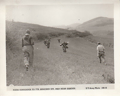 Original US Army Photo GERMANS SURRENDER to 7th ARMORED DIVISION EISBORN 455