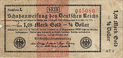 Ro.143a 1,05 Mark Gold = 1/4 Dollar 1923 (4)