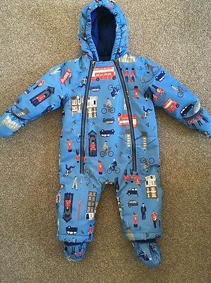 Jules Fleece Lined All In One Snow Suit Boys 9-12 Months