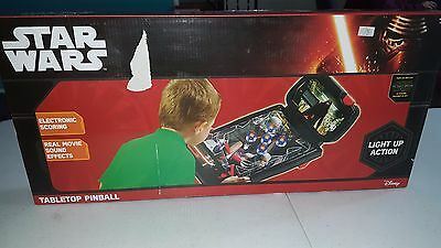 Pinball Machine Star Wars Tabletop Toy Table Game Kids ARCADE NEW!!! LIGHT UP