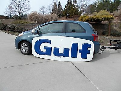 Vintage Gulf Petroleum Gas Oil Sign