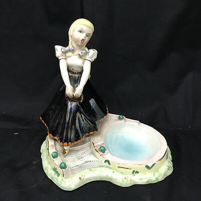 Statuina vintage anni '50 in ceramica - Vintage pottery figure doll 50s