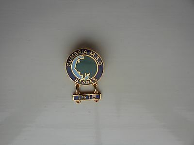 Rare Cumbria Msg Stages Rally Metal Lapel Badge With Appended Year-1978-Mint