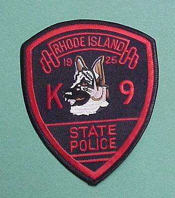 Rhode Island  Ri   K-9  State Police Patch  Very Nice!!   Free Shipping!!!