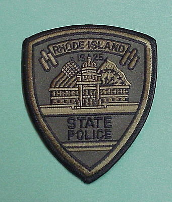 Rhode Island   Ri  Subdued Green  State Police Patch   Nice!  Free Shipping!!!