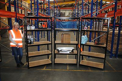 3 Bays of Steel 180x90x45cm 5 Tier Garage Shed Racking Storage Shelving Units