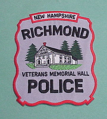 Richmond  New Hampshire  Nh  ( Veterans  Memorial Hall )  Police Patch