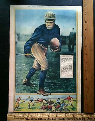 Vintage 1928 Jack Chevigny Print Notre Dame Football That's One For The Gipper