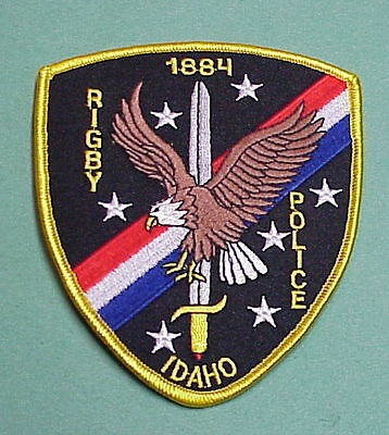 Rigby  Idaho  1884   Id   Police Patch   Very Nice!!  Free Shipping!!!