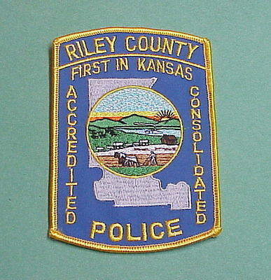 Riley County  Kansas  Ks  ( First In Kansas )  Police Patch    Free Shipping!!!