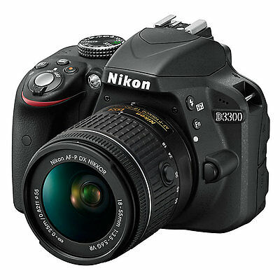 Nikon D3300 Digital SLR 24.2MP 1080P Camera with 18-55mm VR Lens (ML1568)