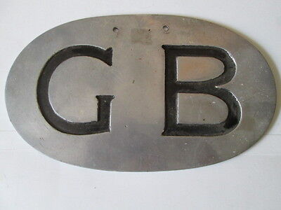 GB plate large.motor club.AA RAC. car club.car badge.