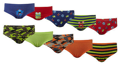 Young Boys Multi coloured 5 Pack 100% Cotton Briefs underpants