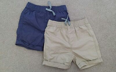 6-9 months boys ASDA George pair cotton shorts