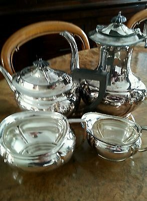 Silver plated tea set 4 pieces