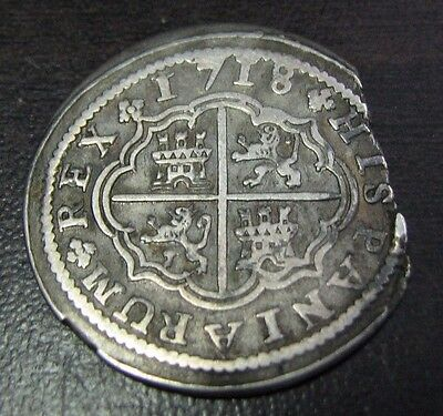 Spain 1718 2 Real PHILIP V SPANISH COLONIAL