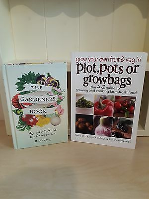 Collection of 2 x Gardening Books - The Gardeners Books - Grow Your Own