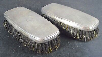 Sterling Silver Clothes Grooming Brush Monogrammed LS Vintage Pair of TWO