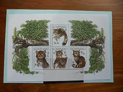Slovakia Stamps, 2003, Endangered Species, Wildcat, MS416, Mint Never hinged