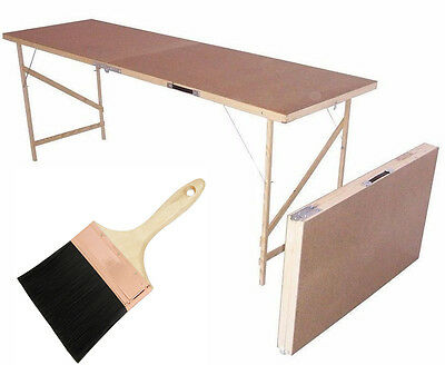 Folding Wallpaper Paste Pasting Carboot Decorating Table + FREE PASTING BRUSH