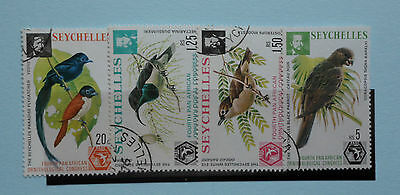 Seychelles stamps, 1976, Pan-African Ornithological Congress, SG369-372, Used