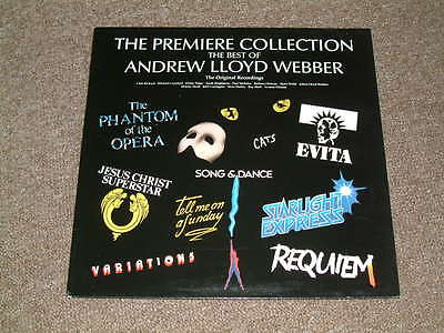 """LP ANDREW LLOYD WEBBER - """"The Premiere Collection"""" (With Press Release"""""""
