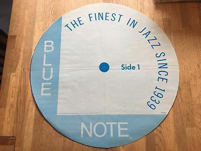 1984 ORIGINAL JAZZ BLUE NOTE LABEL PROMOTIONAL POSTER  DOUBLE SIDED 24 inch DIA