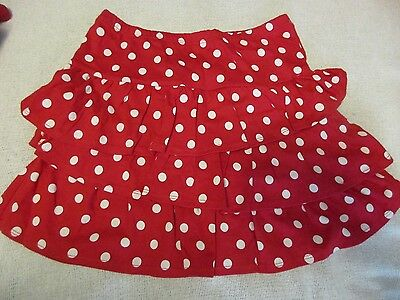 Gymboree Girls SIze 12 Red with White Polka Dots Skort Skirt NWT