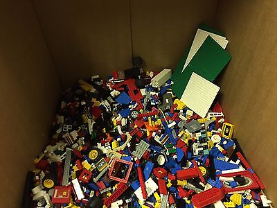 Lego Bulk Lot Of 20 Lbs Minifigures Unsorted Bricks Baseplates Mixed With Tub