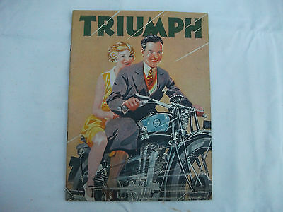 Triumph 1930 motorcycle sales catalogue, original vintage,full range 20pp,vgc