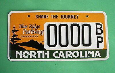 North Carolina Blue Ridge Parkway Sample License Plate See the Pictures