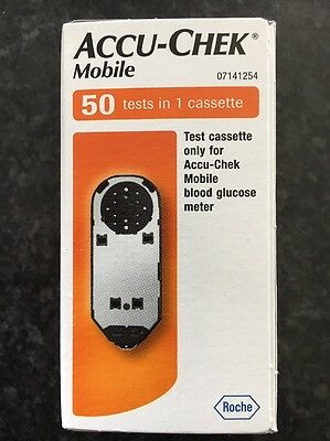 Accu-Chek Mobile Blood Glucose Diabetic 50 tests/1 cassette BNIB EXP 06/2018