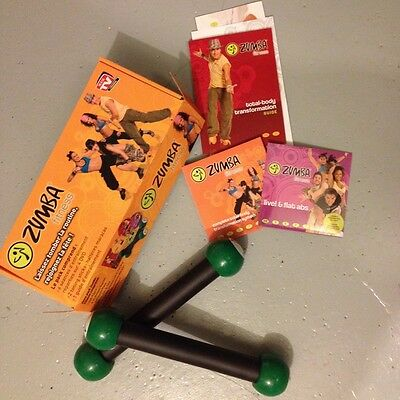 Coffret Zumba Fitness 4 Dvd + 2 Alteres  + Guide -Tbe