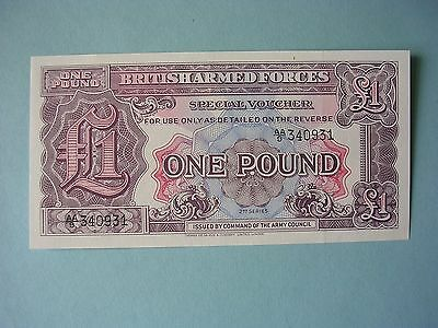 British Armed Forces Special Voucher One Pound 2nd Series UNC