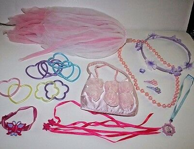 FAIRY SKIRT, NECKLACES, HAIR ACCESSORIES, and PRINCESS MICROPHONE