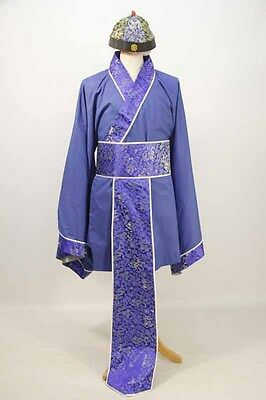 Blue Chinese Jacket, Sash & Hat